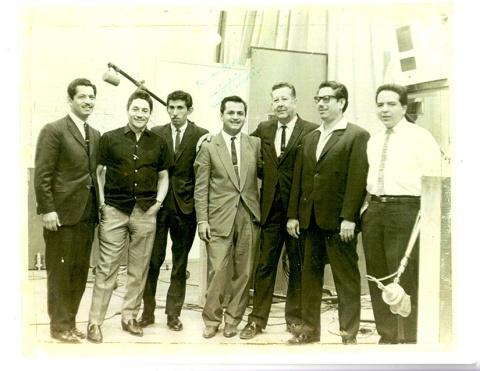 De izq. a der. Valencia, Solís, Vaca Flores, Alfaro Valencia, Valdés Leal, Carrión y Rodolfo Zamudio.